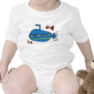 Niños submarinos camisetas