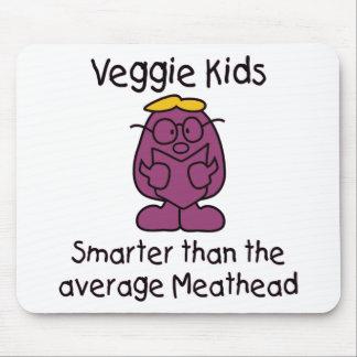 Niños vegetarianos divertidos tapetes de ratones