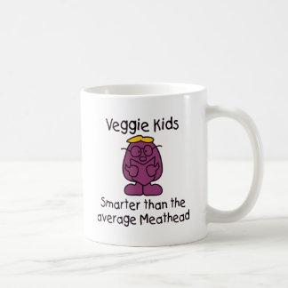 Niños vegetarianos divertidos tazas