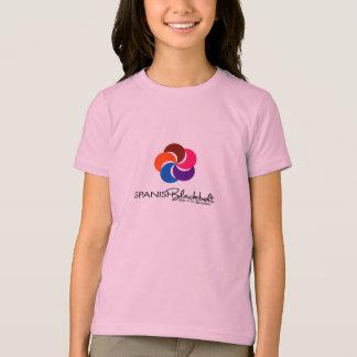 Niños verticales del chica del logotipo de la playera