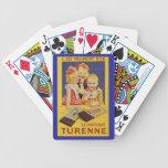 Niños y barra de chocolate franceses lindos cartas de juego