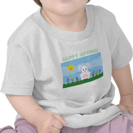 Niños y bebé lindos de la camisa del conejito de O