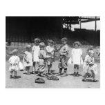 Niños y béisbol, 1900s tempranos postal