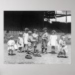 Niños y béisbol, 1900s tempranos posters