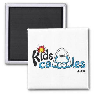 Niños y Caboodles .com Imán Cuadrado