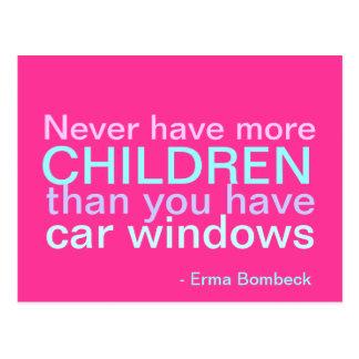Niños y coches - cita inspirada postales