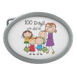 Niños y profesor de sexo femenino 100 días hebillas de cinturon ovales