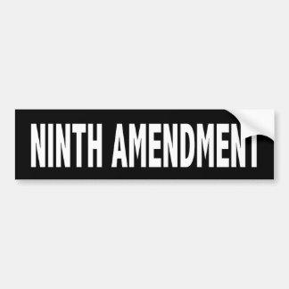 Ninth Amendment Bumper Sticker