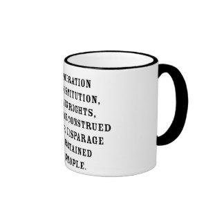 Ninth Amendment Text Ringer Mug
