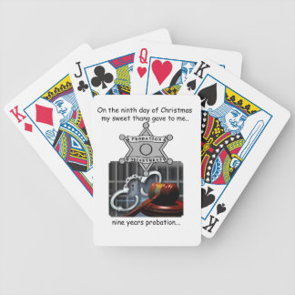 Ninth Day Redneck Christmas Bicycle Playing Cards