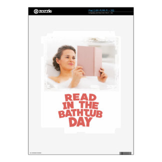 Ninth February - Read In The Bathtub Day Decal For iPad 2