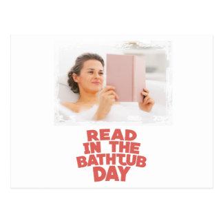 Ninth February - Read In The Bathtub Day Postcard