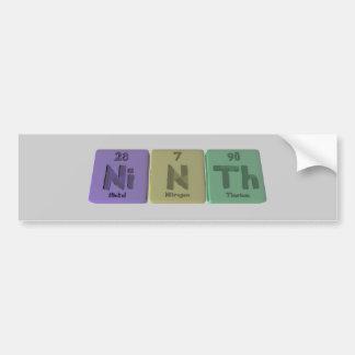 Ninth-Ni-N-Th-Nickel-Nitrogen-Thorium.png Bumper Sticker