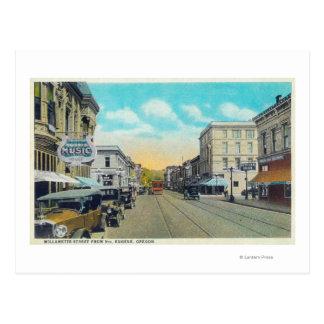 Ninth Street View of Willamette Street Postcard