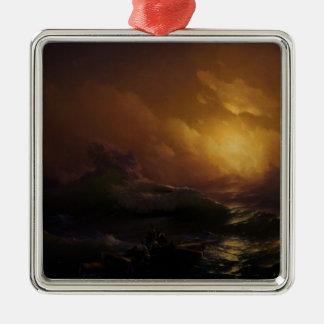 Ninth wave 涛 3 metal ornament