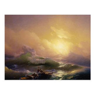 Ninth wave 涛 postcard