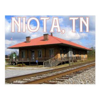Niota, TN Historic 1854 Train Station Postcard