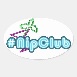 Nipclub Oval Stickers