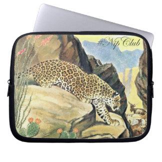 Nipclub Vintage Jaguar Cat Electronic bag Laptop Computer Sleeve