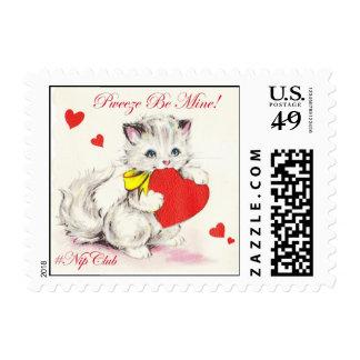 Nipclub Vintage Valentine Be Mine Kitten Stamps