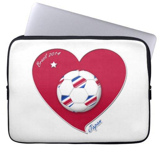 Nippon Japanese National Soccer Team Japan 2014 Laptop Sleeves