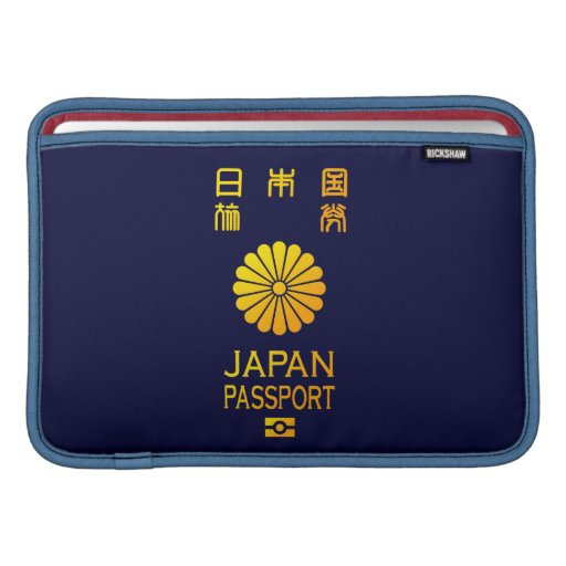 Nippon passport MacBook air sleeves