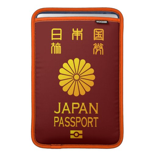Nippon passport iPad sleeve