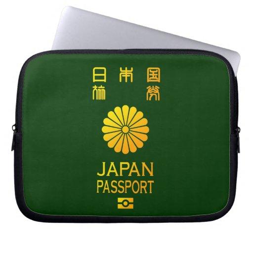 Nippon passport computer sleeve