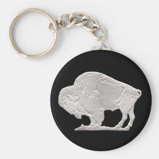 níquel del búfalo llavero redondo tipo pin
