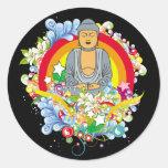 Nirvana Buda Etiqueta Redonda