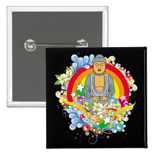 Nirvana Buda Pin Cuadrado