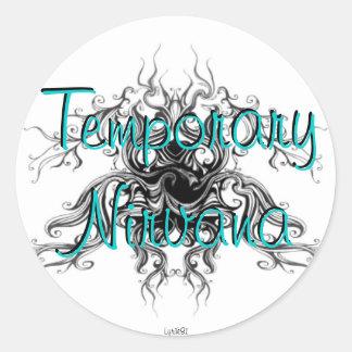Nirvana temporal pegatina redonda