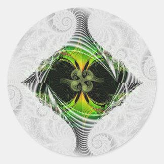 Nirvana verde pegatina redonda