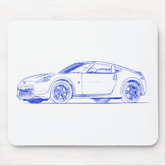 Nis 370Z sketch Mouse Pad