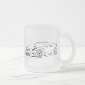 Nis Skyline GTR 2015 Frosted Glass Coffee Mug