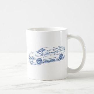 Nis Skyline GTR R34 2000 sketch Coffee Mug