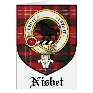 Nisbet Clan Crest Badge Tartan Card