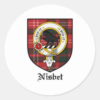 Nisbet Clan Crest Badge Tartan Classic Round Sticker