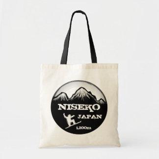 Niseko Japan black white snowboard reusable bag