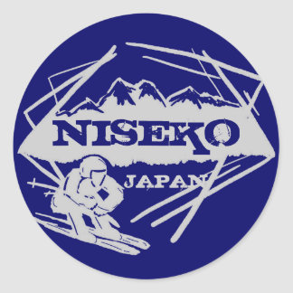 Niseko Japan blue gray ski logo art stickers