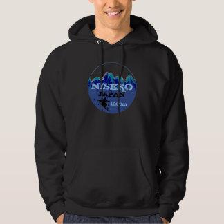 Niseko Japan blue ski art elevation hooodie Hoody