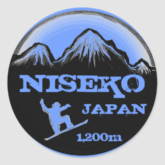 Niseko Japan blue snowboard souvenir stickers
