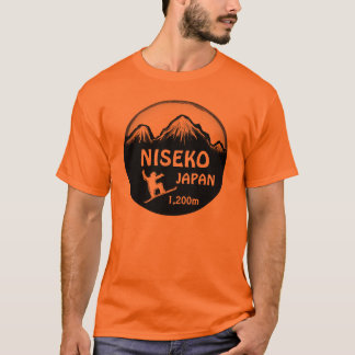 Niseko Japan orange snowboard art tee