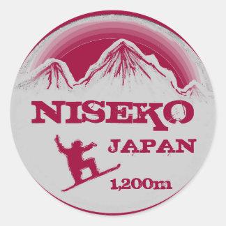 Niseko Japan pink snowboard art souvenir stickers