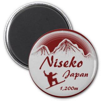 Niseko Japan red snowboard art souvenir magnet