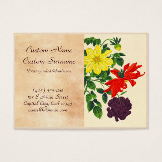 Nishimura Hodo Dahlias oriental japanese flowers Business Card