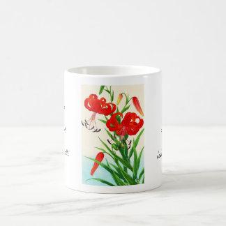 Nishimura Hodo Tiger Lilies shin hanga flowers Classic White Coffee Mug