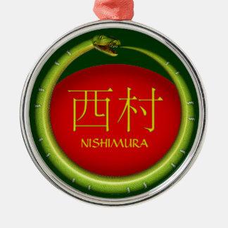 Nishimura Monogram Snake Metal Ornament