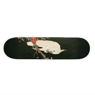Nishimura White Cockatoo Asian Art Print Skateboar Skateboard Decks