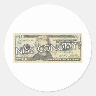 Niss Conomy? Classic Round Sticker